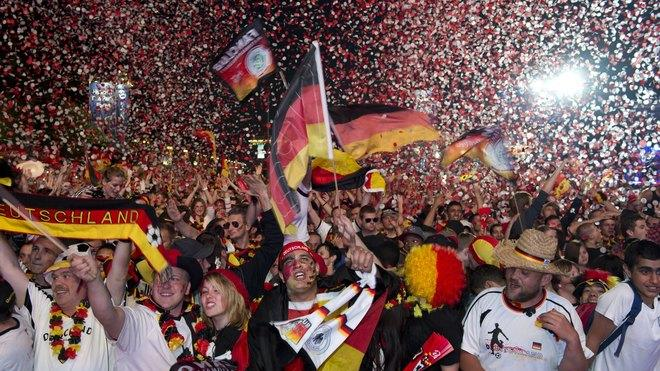 Supporters Of The German National Football Team Celebrate AFP/Getty Images