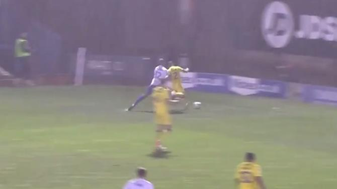 VIDEO: 'Most Violent Shoulder Barge' Showcases Lower League Football at Its Finest