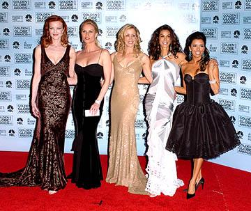 "Marcia Cross, Nicollette Sheridan, Felicity Huffman, Teri Hatcher and Eva Longoria of ""Desperate Housewives"" Best TV Series - Comedy Golden Globe Awards - 1/16/2005"