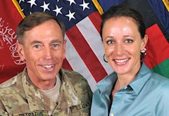 Davis Petraeus; Paula Broadwell | Photo Credits: ISAF via Getty Images