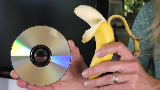 can you fix a scratched dvd with a banana upgrade your life yahoo news canada. Black Bedroom Furniture Sets. Home Design Ideas