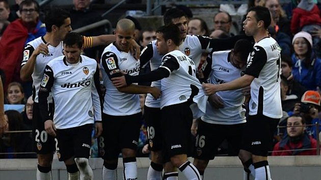 Valencia beat Barcelona 3-2 at the Camp Nou (AFP)