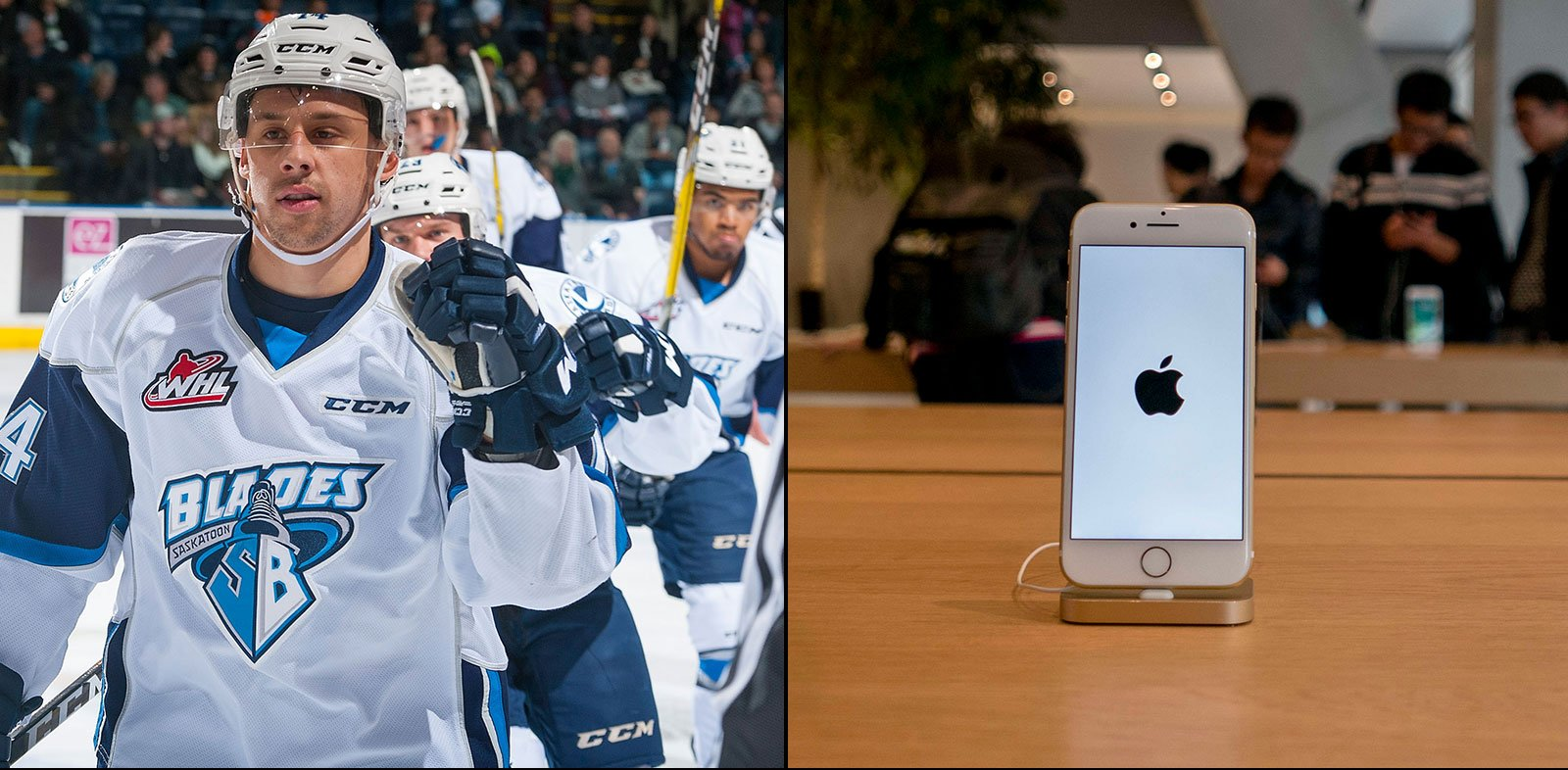The Saskatoon Blades are going without cellphones at the rink.