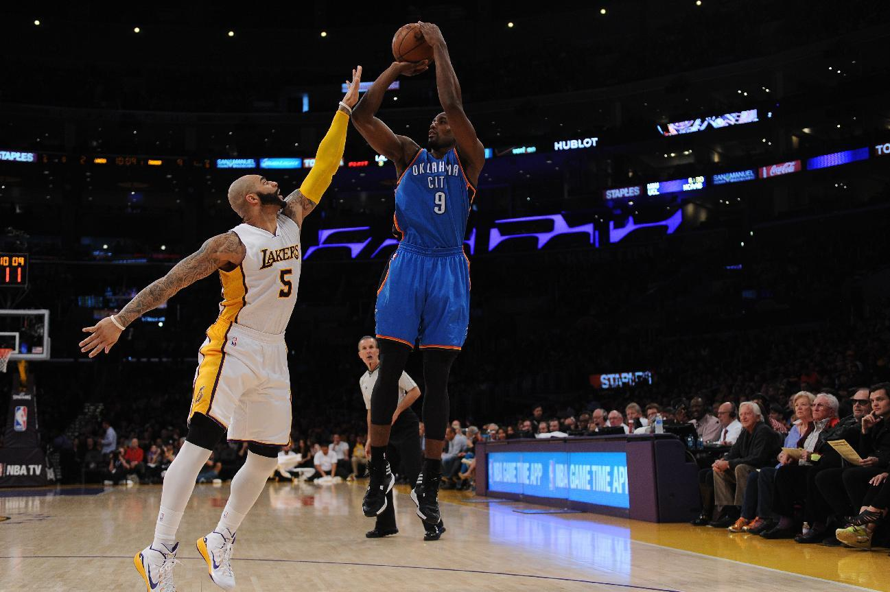 With no Durant or Westbrook, OKC still tops Lakers 108-101