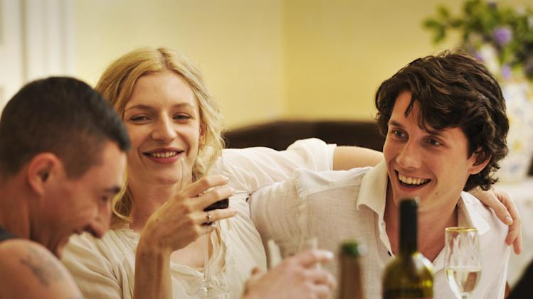 "This publicity photo released by courtesy of Sony Pictures Classics shows, from left, Ciro Petrone as Alessandro, Molly Blixt Egelind as Astrid and Sebastian Jessen as Patrick, in the film, ""Love Is All You Need."" (AP Photo/Sony Pictures Classics, Doane Gregory)"