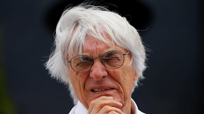 FILE PHOTO - Formula One supremo Ecclestone looks on before the Hungarian F1 Grand Prix at the Hungaroring circuit, near Budapest