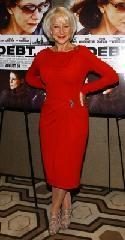 """Helen Mirren glams it up in red at """"The Debt"""" screening in New York City on August 22, 2011  -- Getty Images"""