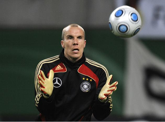 Mental health is seen as one of the last taboos in the macho world of professional football, despite occasional high-profile incidents such as the suicide of German goalkeeper Robert Enke (pictured) i