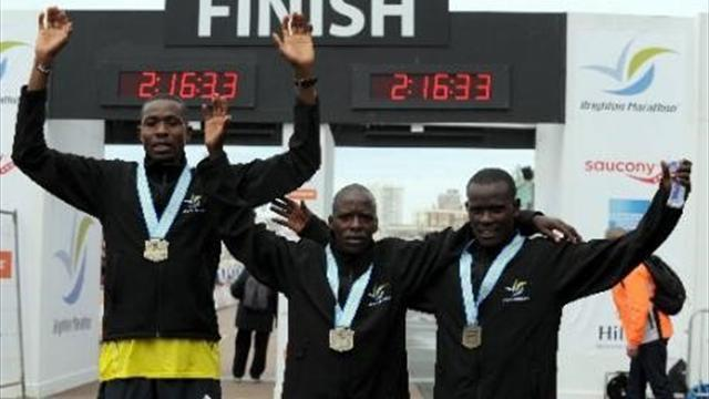 Athletics - Kenyans smash records at Brighton Marathon