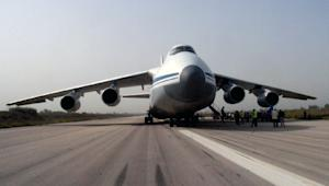 Russian cargo planes delivered humanitarian aid to…