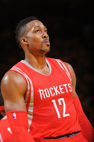 OAKLAND, CA - MAY 19: Dwight Howard #12 of the Houston Rockets during Game One of the Western Conference Finals against the Golden State Warriors during the NBA Playoffs on May 19, 2015 at ORACLE Arena in Oakland, California. (Photo by Noah Graham/NBAE via Getty Images)