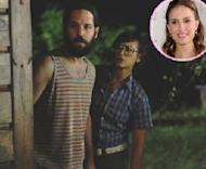 "Paul Rudd and Rashida Jones in ""Our Idiot Brother."" Inset: Natalie Portman -- The Weinstein Company"