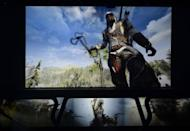 Ubisoft presents Assassin's Creed 3 during the Ubisoft's media briefing at the E3 2012 in Los Angeles, California, on June 4, 2012. The Electronic Entertainment Expo (E3), the video game industry's biggest event, runs from June 5-7 in Los Angeles