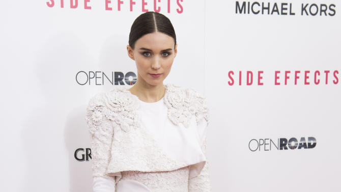 "Rooney Mara attends the premiere of ""Side Effects"" hosted by the Cinema Society and Open Road Films on Thursday, Jan. 31, 2013 in New York. (Photo by Charles Sykes/Invision/AP)"
