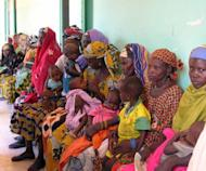Mothers wait with their children at the district hospital of Tillaberi in 2005. Niger has ousted Afghanistan as the worst place in the world to be a mother, largely due to hunger, according to a report by Save the Children
