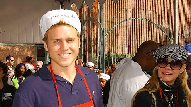 Actor Spencer Pratt participates in serving Thanksgiving dinner