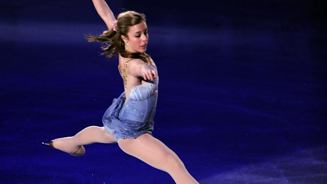 Ashley Wagner of the US performs during the exhibition event in the World Team Trophy 2012 figure skating competition in Tokyo on April 22, 2012.   AFP PHOTO / TOSHIFUMI KITAMURA (Photo credit should read TOSHIFUMI KITAMURA/AFP/Getty Images)