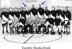 Jason Segel, Jason Collins, Harvard-Westlake High School Varsity Basketball team, 1995-1996 | Photo Credits: Harvard-Westlake High School