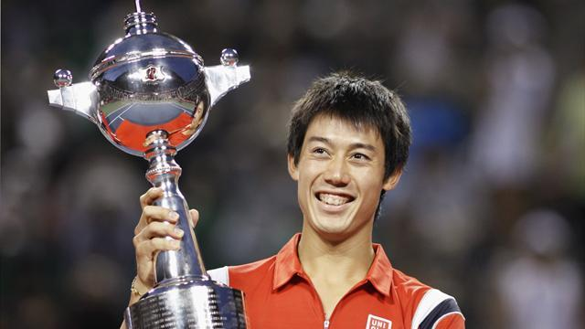 Tennis - Japan's Nishikori close to walking with the giants