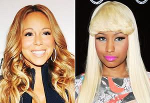 Mariah Carey, Nicki Minaj   Photo Credits: Desiree Navarro/WireImage, Amanda Edwards/Getty Images
