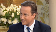 Prime minister David Cameron on 'This Morning'