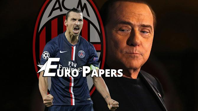 Transfers - Euro Papers: Zlatan Ibrahimovic set for shock Milan return?