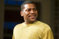 """FILE - In this Dec. 8, 2011 file photo, Mekhi Phifer appears at the curtain call for the opening night performance of the Broadway play """"Stick Fly"""", in New York. Phifer is not used to be being shouted at, but it's part of his Broadway debut in """"Stick Fly.""""(AP Photo/Charles Sykes, file)"""