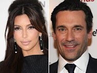 Kim Kardashian / Jon Hamm -- Getty Images