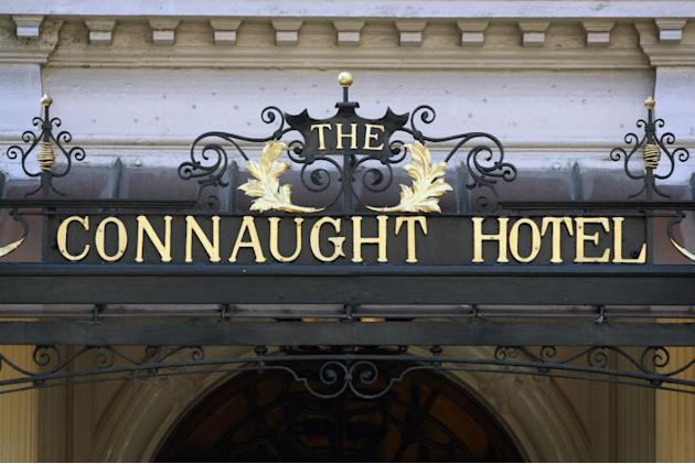 A general view of the Connaught Hotel in Mayfair, London.