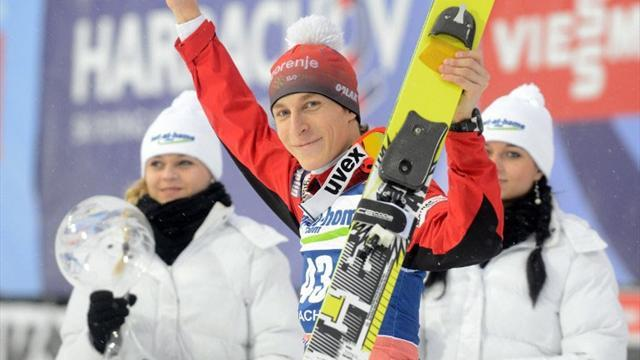 Ski Jumping - Tepes stars as Slovenia win ski flying team event in Planica