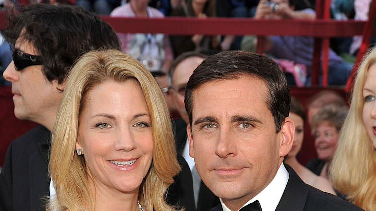 Steve Carell and Nancy Walls arrive at the 82nd Annual Academy Awards held at the Kodak Theatre on March 7, 2010 in Hollywood, California.