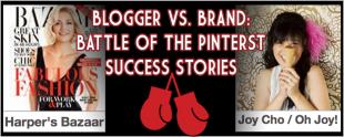 Blogger vs. Brand – Battle of the Pinterest Success Stories image HB VS OJ 1024x411