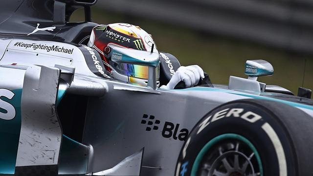 Chinese Grand Prix - Hamilton leads Mercedes one-two in Shanghai