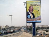 A bilboard shows a campaign advertisement for Oumar Sarr of the Democratic Party of Senegal (PDS) in the upcoming legislative elections in Dakar. Senegal voted for a new parliament with President Macky Sall seeking a majority to put his policies into action after ousting the veteran former leader Abdoulaye Wade in a March poll