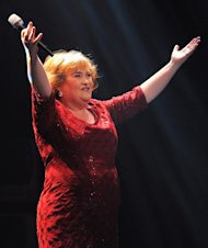 Susan Boyle sings at the Royal Theatre in Newcastle, England, on March 27, 2012