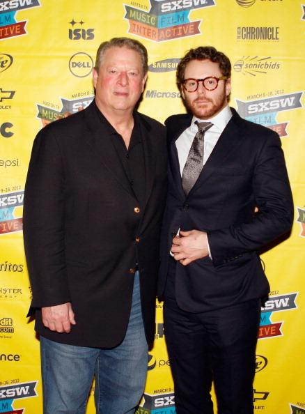 AUSTIN, TX - MARCH 12: Former Vice President of the United States Al Gore and Airtime's Sean Parker attend Sean Parker Presentation during the 2012 SXSW Music, Film   Interactive Festival at Austin Convention Center on March 12, 2012 in Austin, Texas.