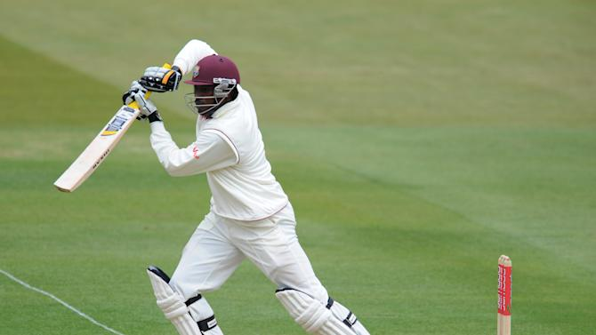 Chris Gayle was dismissed for eight in West Indies' second innings