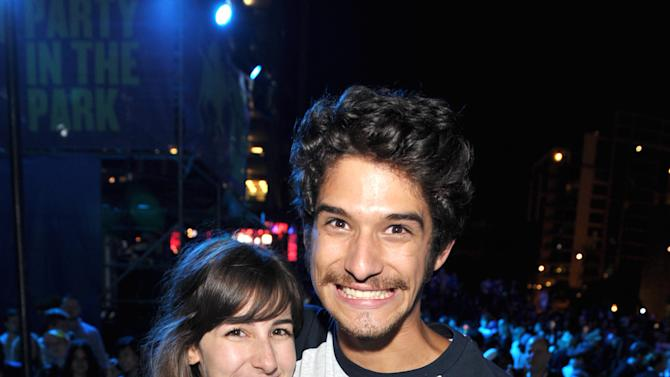 Tyler Posey, right, and guest attends MTV2's Party in the Park on Day 2 of Comic-Con International on Thursday, July 18, 2013 in San Diego, Calif. (Photo by John Shearer/Invision for MTV2/AP Images)