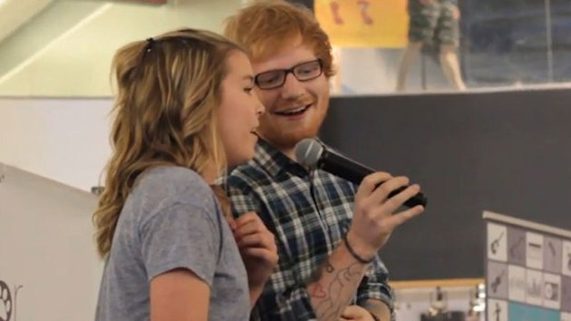 Ed Sheeran doesn't just perform duets with Taylor Swift.