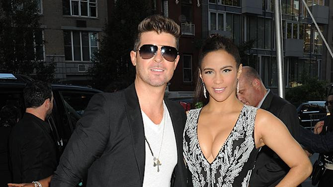 Paula Patton and Robin Thicke arrive for World Premiere of