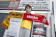 Britain Football Soccer - Sutton United Media Day - FA Cup Fifth Round Preview - The Borough Sports Ground - 16/2/17 General view of and Arsenal fan outside the Borough Sports Ground Action Images via Reuters / Matthew Childs Livepic