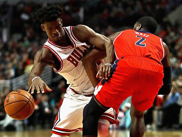 Jimmy Butler finds it hard to get around during the holiday season. (Getty Images)