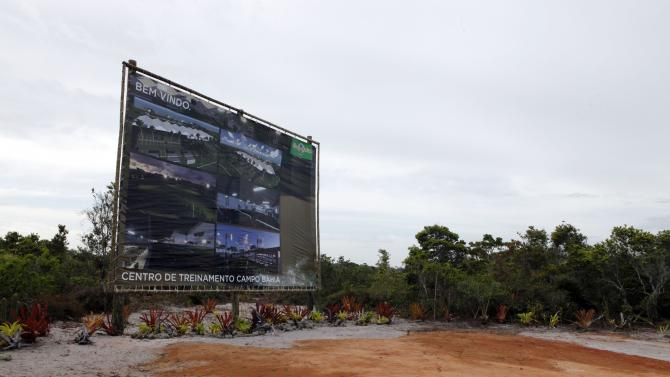A general view of the site where a training centre for Germany's 2014 World Cup national soccer team will be constructed is seen in Santo Andre