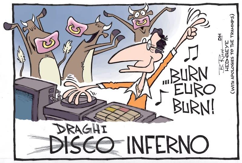 Draghi: euro troppo forte!