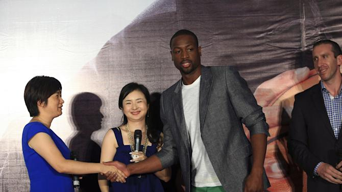 NBA Player Dwyane Wade Visits China