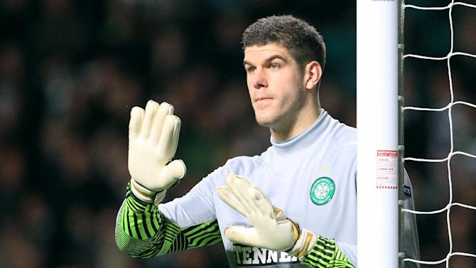 Fraser Forster, pictured, has been hailed as 'fantastic' by his Celtic team-mate Joe Ledley