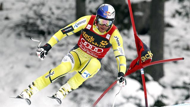 Alpine Skiing - Jansrud leads Svindal in second Val Gardena practice
