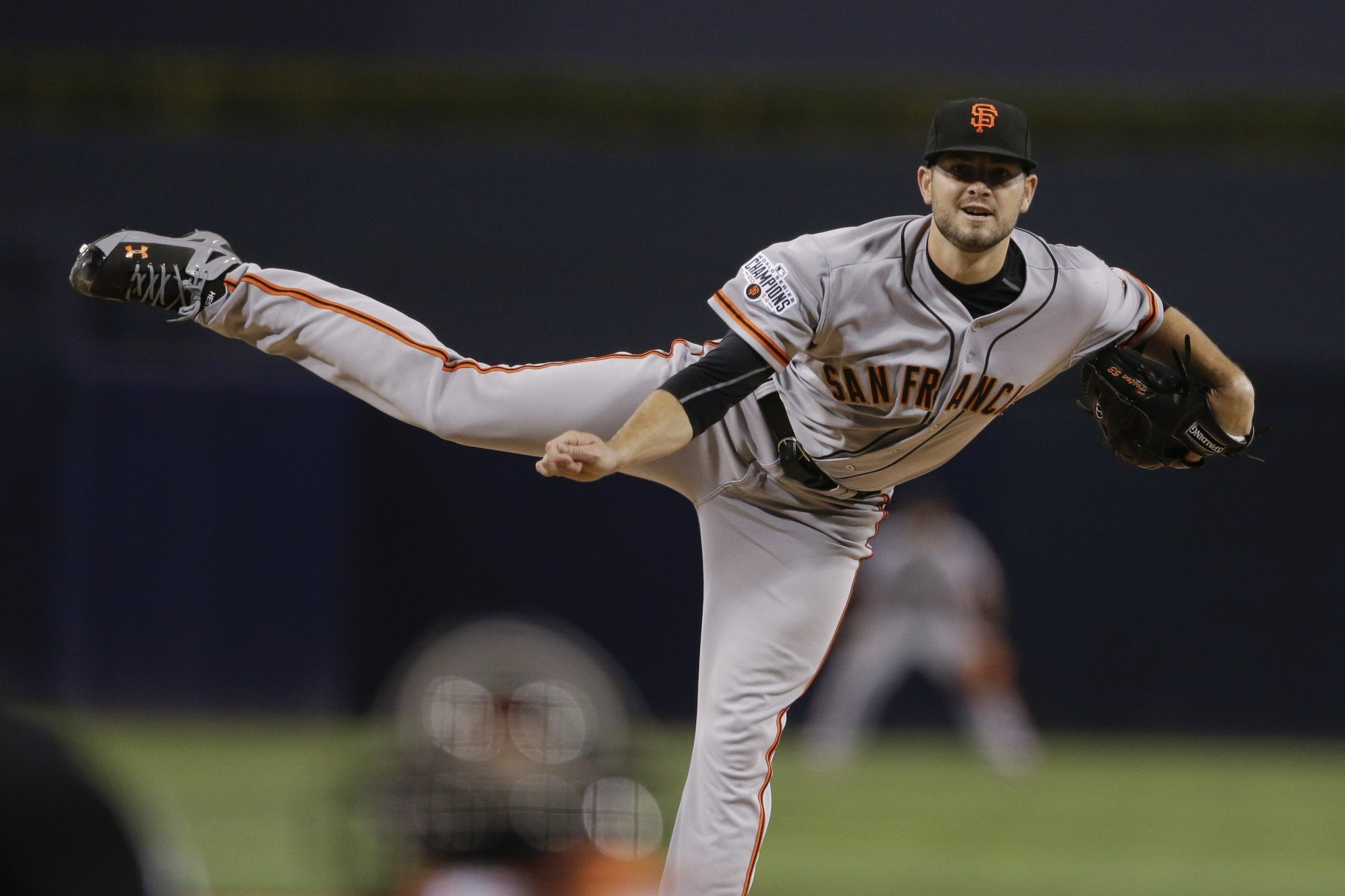 Chris Heston, he of the 2015 no-hitter, is headed to the Mariners. (AP)