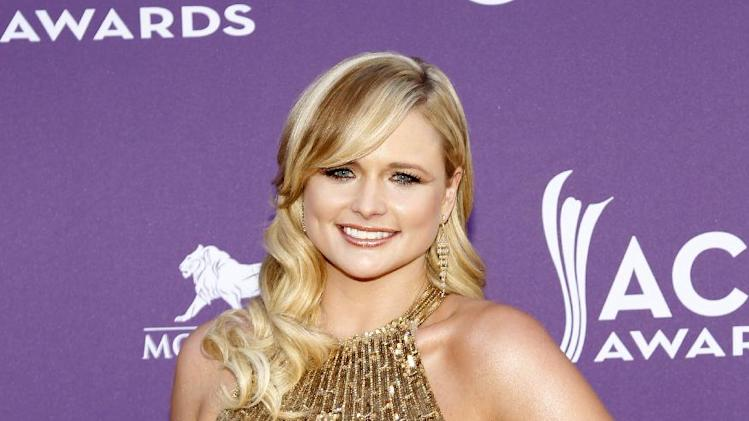 Miranda Lambert arrives at the 47th Annual Academy of Country Music Awards on Sunday, April 1, 2012 in Las Vegas. (AP Photo/Isaac Brekken)