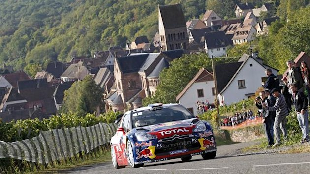 2012 France rally Citroen Loeb